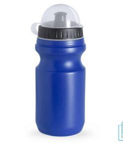 Sport bidon plastic 550ml met logo blauw