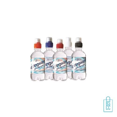 Waterflesje bedrukken 330 ml sportdop alle kleuren