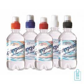 Waterflesje bedrukken 330 ml sportdop kleuren