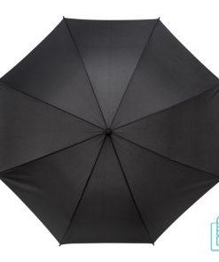 Luxe paraplu bedrukken GA-318 haak zwart