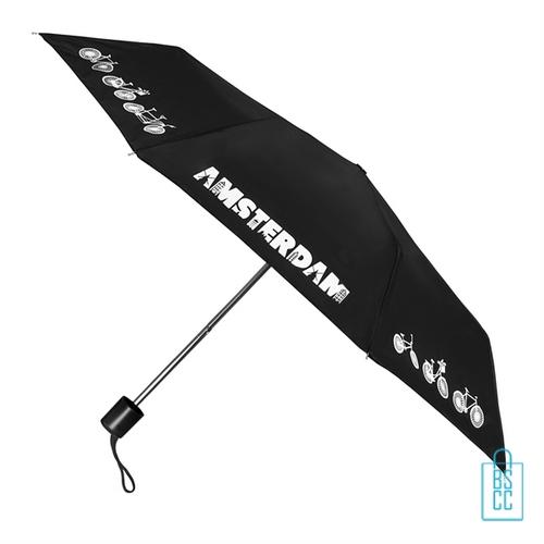 Opvouwbare paraplu Amsterdam LF-103 bedrukken zwart