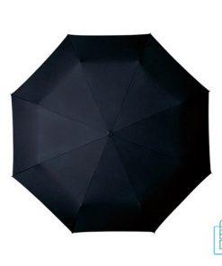 Opvouwbare paraplu, GF-500, bedrukken zwart goedkoop