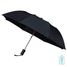 Opvouwbare paraplu, GF-512, bedrukken zwarte goedkoop