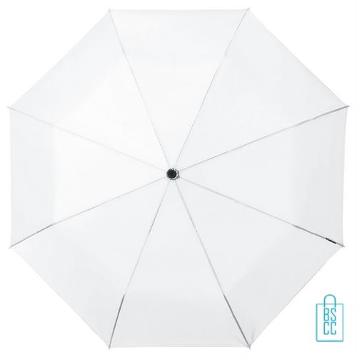 Opvouwbare paraplu bedrukken LGF-420 wit met logo