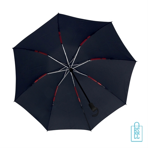 Opvouwbare paraplu insideout LGF-406 bedrukt met logo navy