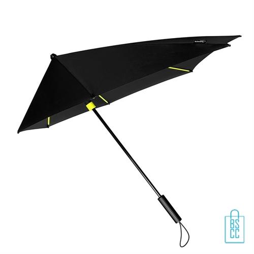 StorMaxi Display Impliva stormparaplu bedrukken speciale editie neon geel