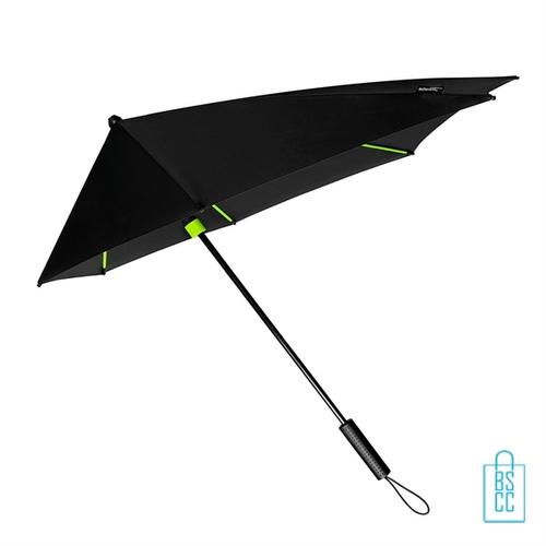 StorMaxi Impliva goedkoop bedrukken Special Edition stormparaplu neon groen met logo