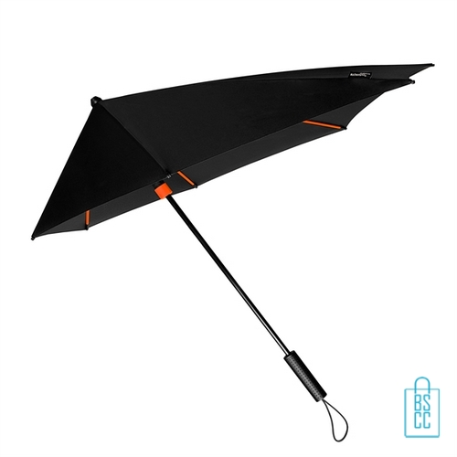 StorMaxi Impliva goedkoop stormparaplu bedrukken Special Edition oranje met logo