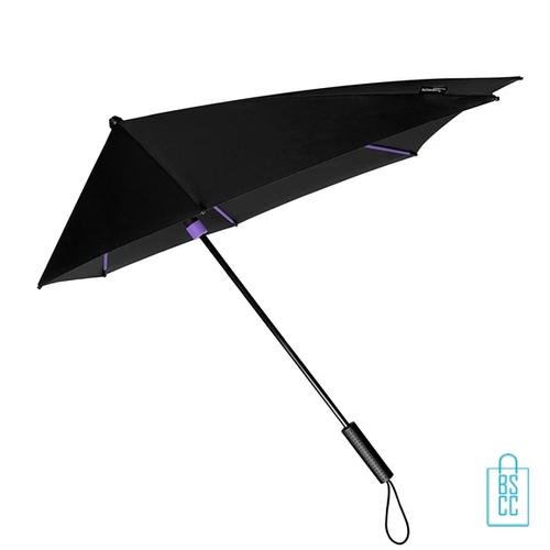 StorMaxi Impliva stormparaplu goedkoop bedrukken Special Edition paars met opdruk