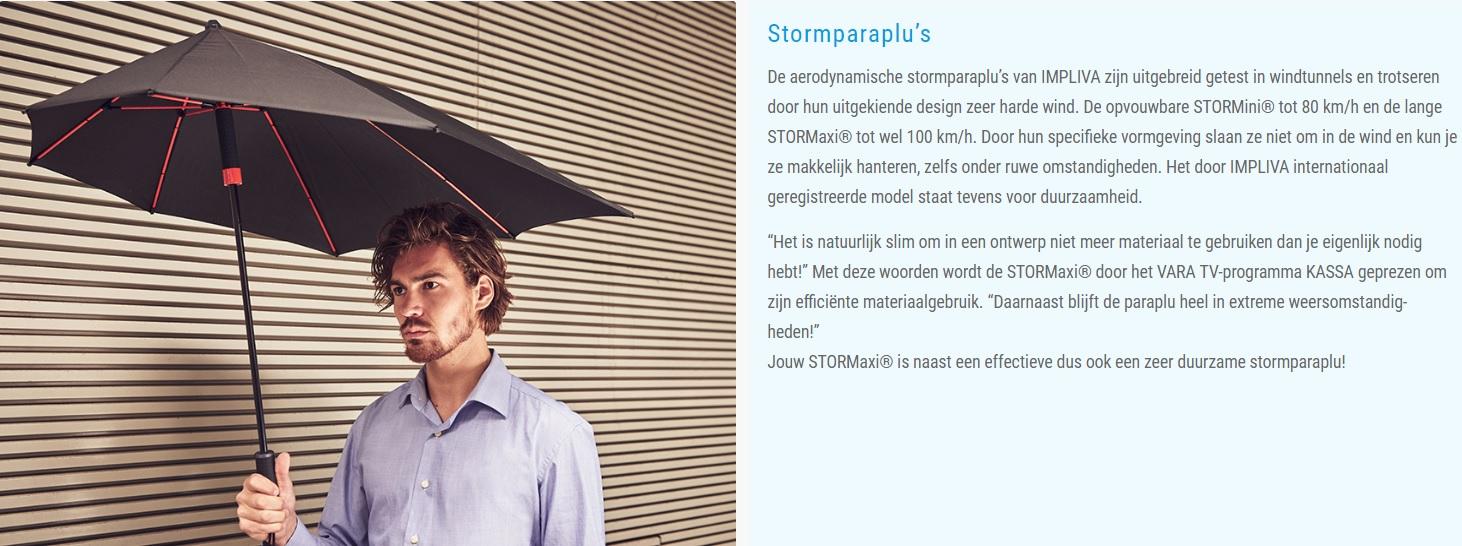 Stormparaplu goedkoop bedrukken
