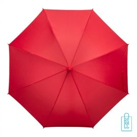 Tulp paraplu TLP-8 bedrukt met logo rood