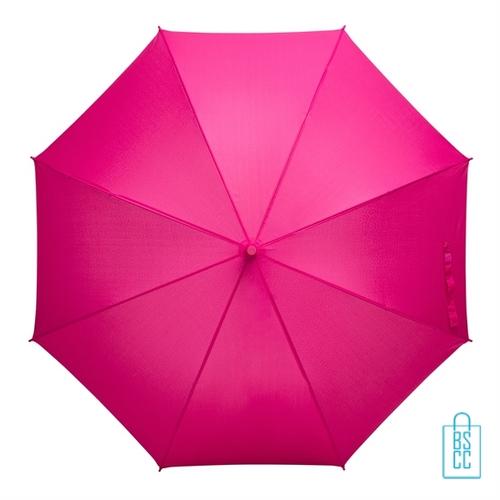 Tulp paraplu TLP-8 bedrukt met logo roze
