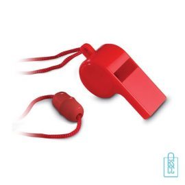 Fluitje bedrukken rood