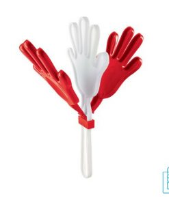 Handenklapper bedrukken rood