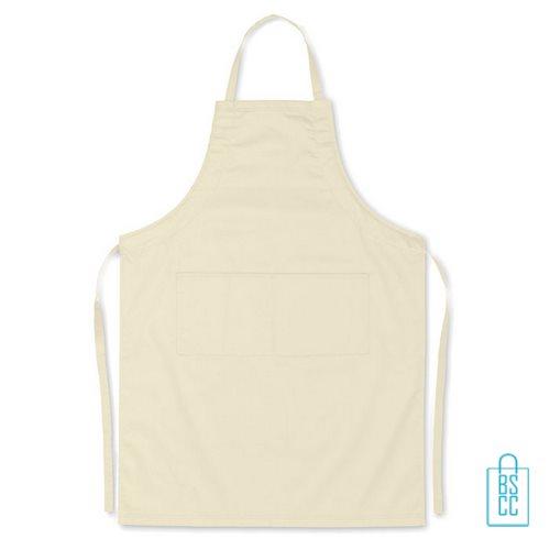 Keukenschort zakken bedrukken goedkoop beige