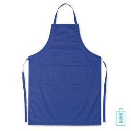 Keukenschort zakken bedrukken goedkoop blauw