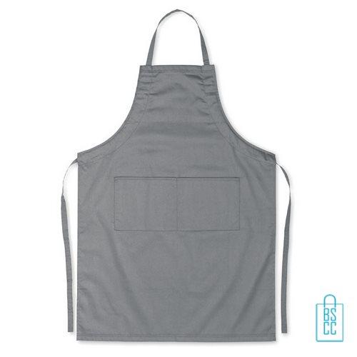 Keukenschort zakken bedrukken goedkoop grijs