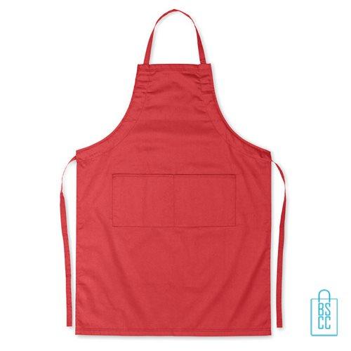 Keukenschort zakken bedrukken goedkoop rood