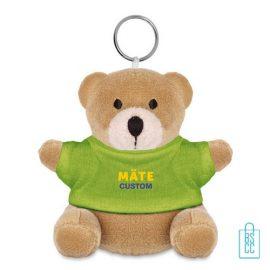 Knuffel sleutelhanger goedkoop bedrukt groen