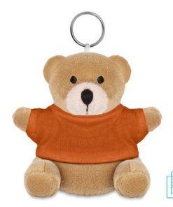 Knuffel sleutelhanger goedkoop bedrukt oranje
