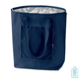 Koeltas shopper bedrukken blauw