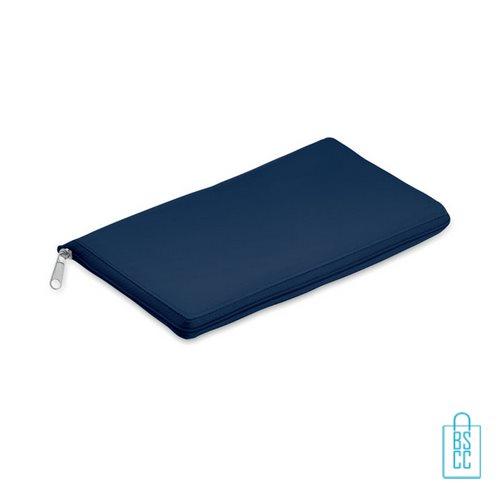 Koeltas shopper bedrukken opvouwbaar blauw