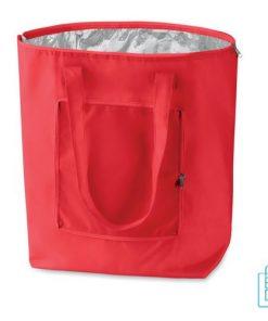 Koeltas shopper bedrukken rood