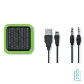 Vierkante bluetooth speaker goedkoop bedrukken groen