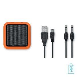 Vierkante bluetooth speaker goedkoop bedrukken oranje