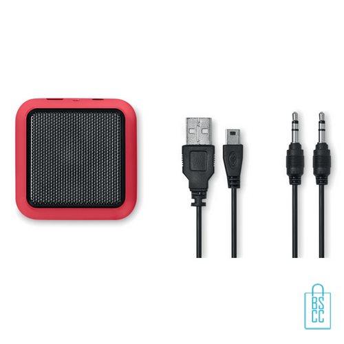 Vierkante bluetooth speaker goedkoop bedrukken rood