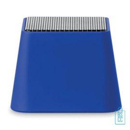 Vierkante bluetooth speaker goedkoop bedrukt blauw