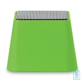 Vierkante bluetooth speaker goedkoop bedrukt groen