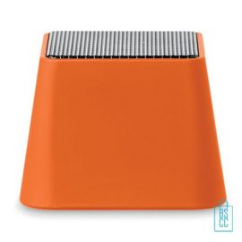 Vierkante bluetooth speaker goedkoop bedrukt oranje