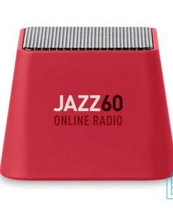 Vierkante bluetooth speaker goedkoop bedrukt rood