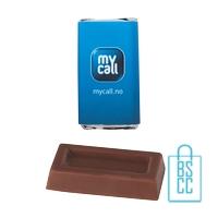 Chocolade rechthoek bedrukken melkchocolade budget