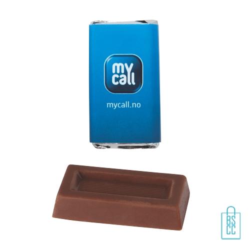 Chocolade rechthoek bedrukken melkchocolade goedkoop