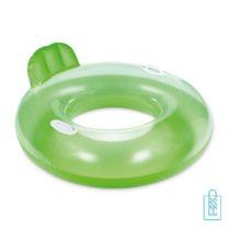 Grote opblaasbare PVC zwemband bedrukt groen