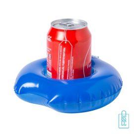 Opblaasbare bekerhouder zwemband bedrukken blauw