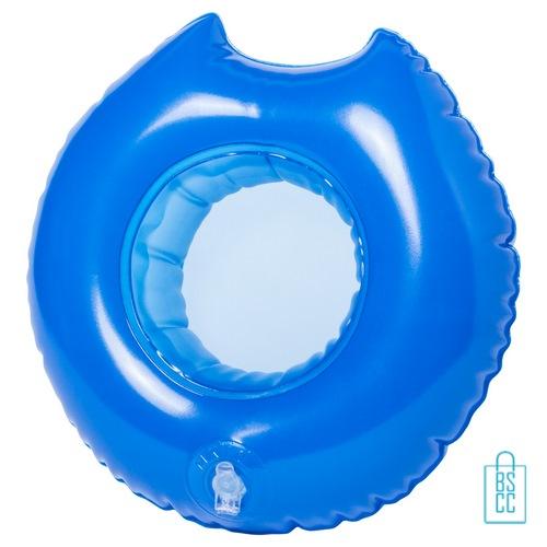 Opblaasbare bekerhouder zwemband bedrukken goedkoop