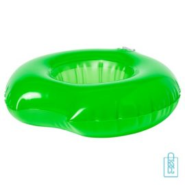 Opblaasbare bekerhouder zwemband bedrukken groen