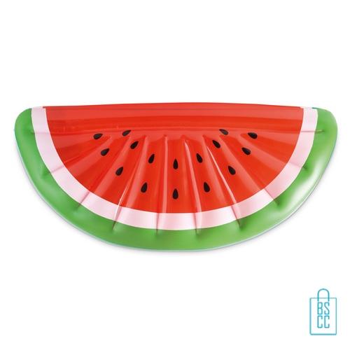Opblaasbare luchtbed watermeloen bedrukken zwembad waterpret