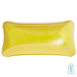 Strandkussen budget transparant goedkoop bedrukken geel