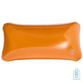 Strandkussen budget transparant goedkoop bedrukken oranje