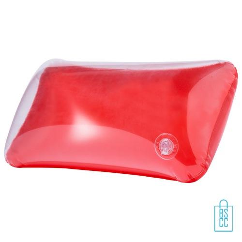 Strandkussen budget transparant goedkoop bedrukken rode