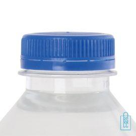 Waterflesje bedrukken 500 ml platte dop blauw