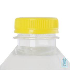 Waterflesje bedrukken 500 ml platte dop geel