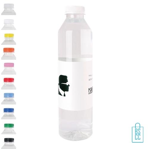 Waterflesje bedrukken 500 ml platte dop goedkoop