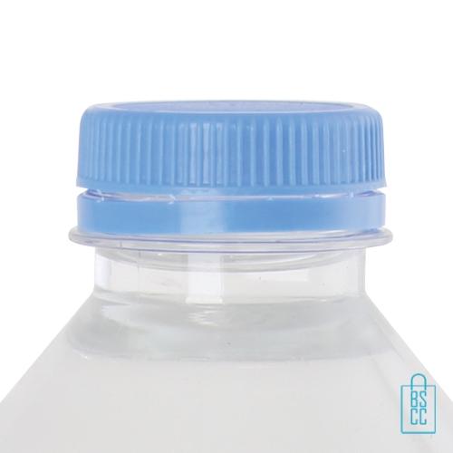 Waterflesje bedrukken 500 ml platte dop lichtblauw