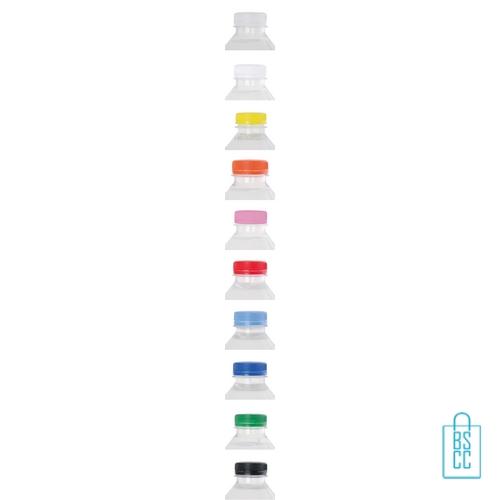 Waterflesje bedrukken 500 ml platte dop transparant-vert