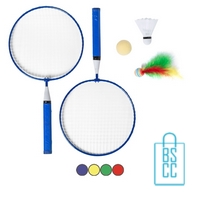 Badmintonset goedkoop bedrukt met logo
